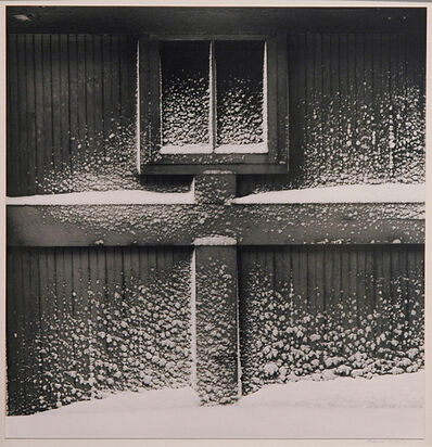 Minor White, 'Snow on Garage Door [also titled: Haags Alley, Rochester, New York]', 1960