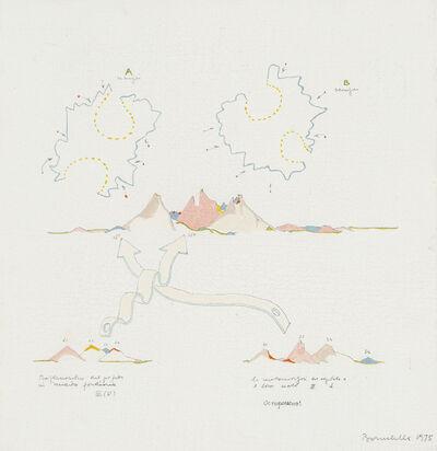 Gianfranco Baruchello, 'Piccola mostra itinerante antipotere', 1975