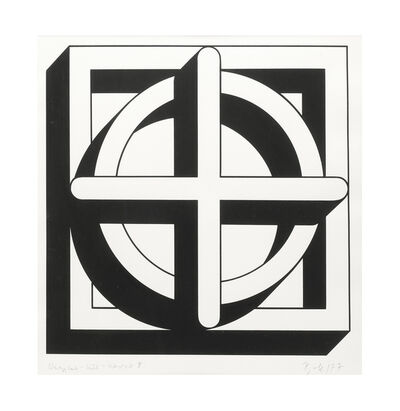 Imre Bak, 'Square-Circle-Cross II', 1977