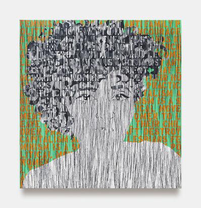 Ghada Amer, 'Self Portrait in Black and White', 2020