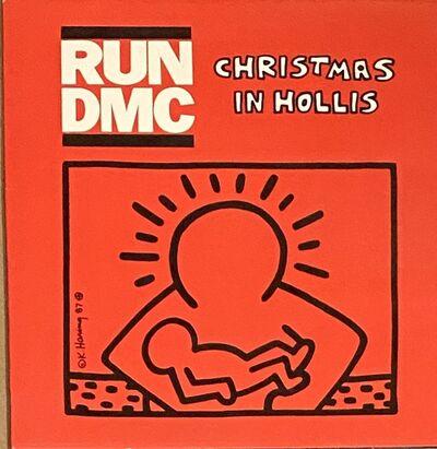 Keith Haring, 'Rare Original Keith Haring Vinyl Record Art (Run Dmc Christmas) ', 1983