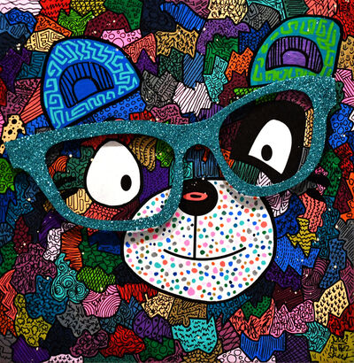 Aurel Street, 'Panda with blue glasses', 2016