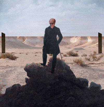 Nasser Al-Kubaisi, 'Wanderer above Zekreet's cliffs', 2019