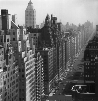 Slim Aarons, 'Park Avenue, 1953: A view of neatly arranged office and apartment blocks along Park Avenue in New York City', 1953