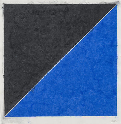 Ellsworth Kelly, 'Colored Paper Image XV (Dark Gray with Blue)', 1976