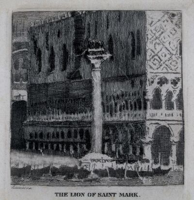 Walter Sickert, 'The Lion of St. Marks, Venice', 1915