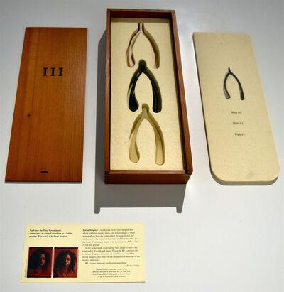 Lorna Simpson, 'III (Three Wishbones in a Wood Box)', 1994