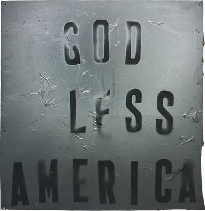 Mark Flood, 'God Less America', 2008