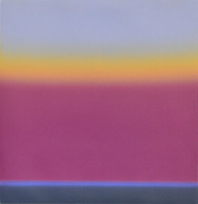 Wayne Viney, 'Sea with Crimson Cloud III (study, framed)'