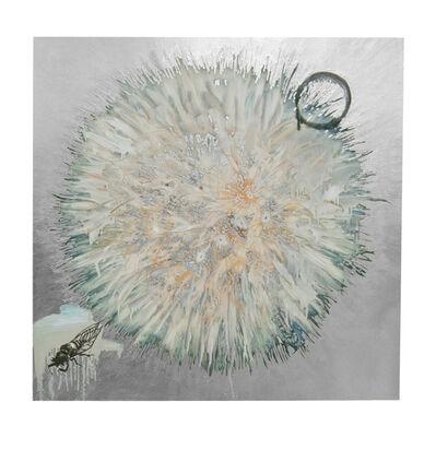 Hung Liu, 'Dandelion with Cicada - Silver', 2020