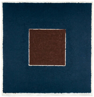 Ellsworth Kelly, 'Colored Paper Image XX (Brown Square with Blue), from Colored Paper Images', 1976