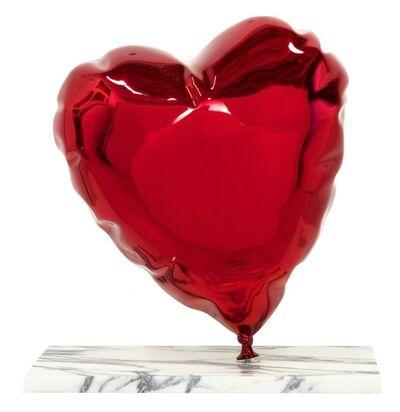 Mr. Brainwash, 'Balloon Heart - Chrome Red', 2020