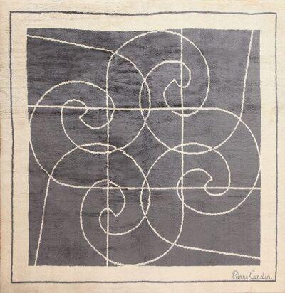 Pierre Cardin, 'Mid Century Pierre Cardin Square Size Vintage Rug'