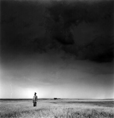 Tseng Kwong Chi, 'Lightning Field, North Dakota (Left)', 1987