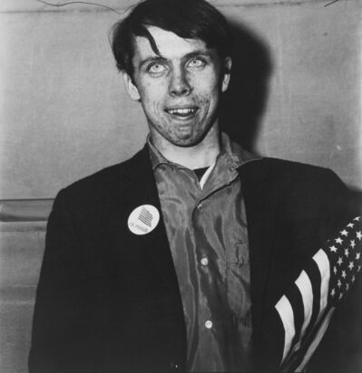 Diane Arbus, 'Patriotic Young Man with a Flag, N.Y.C.', 1967