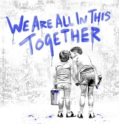 Mr. Brainwash, 'We are all in this together BLUE', 2020
