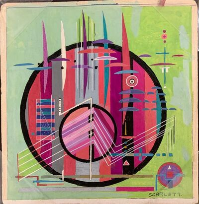 Rolph Scarlett, 'Untitled (Pink/Purple Circle on Green Ground) ', ca. 1940