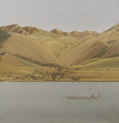 Winifred Knights, 'Edge of Abruzzi; Boat with Three People on a Lake', 1924-1930