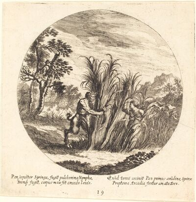 Georg Andreas Wolfgang, the Elder, 'Pan and Syrinx', 1665