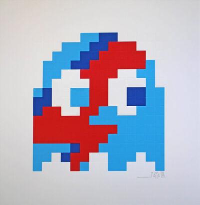 Invader, 'Aladdin Sane Inky (Blue) Print', 2014