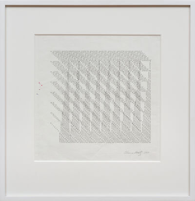 Channa Horwitz, 'Number Matrix', 1977