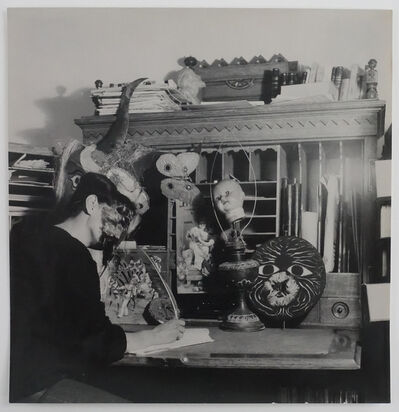 Kati Horna, 'Mujer y mascara, Ciudad de Mexico, 1963', 1963