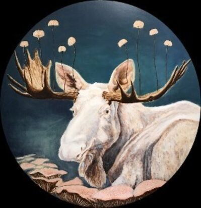 Cynthia Fuhrer, 'White Moose with Mushrooms', 2018