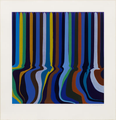 Ian Davenport, 'Royal Blue Etching', 2011