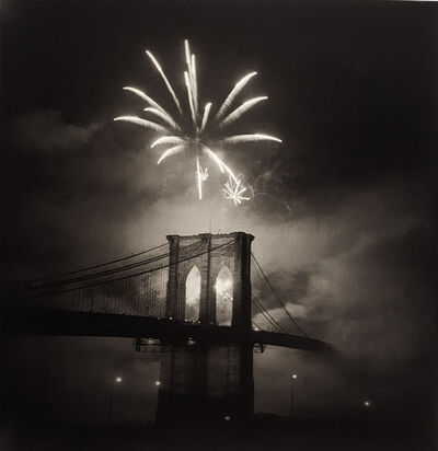 Bruce Cratsley, 'Brooklyn Bridge Centennial, Single Burst', 1983
