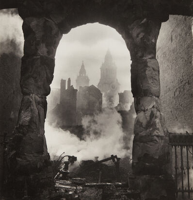 Cecil Beaton, 'The Blitz/Western Campanile of St. Paul's seen through Victorian shop-front', 1940