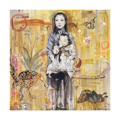 Hung Liu 刘虹, 'Mother and Child (3/9)', 2020