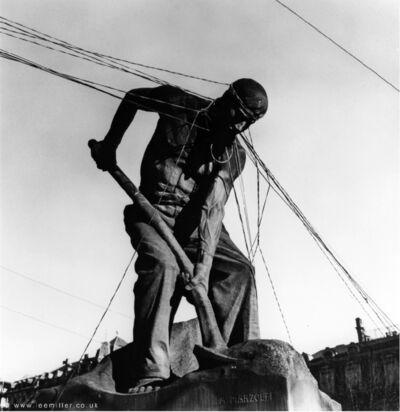 Lee Miller, 'Le Pelleteur [The Shoveler] by A. Marlzolff, Strasbourg, Alsace, France', 1945