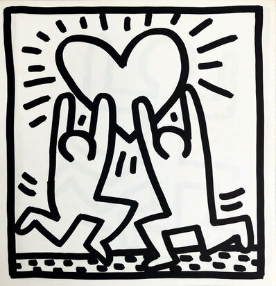 Keith Haring, 'Keith Haring (untitled) Heart lithograph 1982', 1982