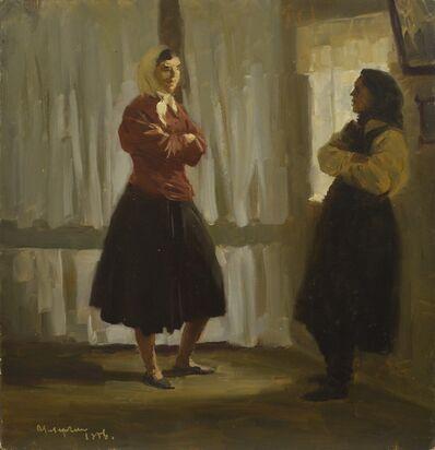 Vladimir Semenovich Zakharkin, 'Chatting', 1956