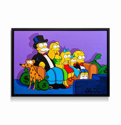 Alec Monopoly, 'Simpsons Family Monopoly Portrait ', 2020