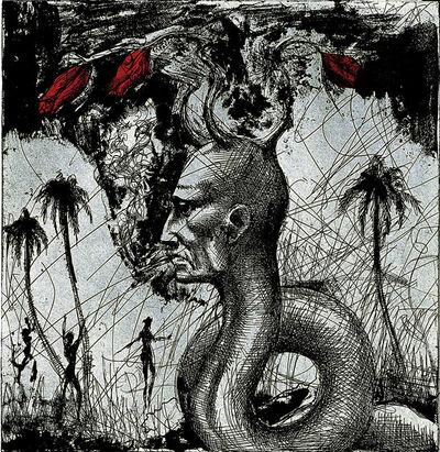 Ashley Bickerton, 'Snake Head No.2', 2006