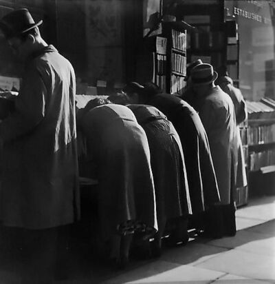 Wolfgang Suschitzky, 'London Charing Cross Road, [People at Bookstore]', 1937