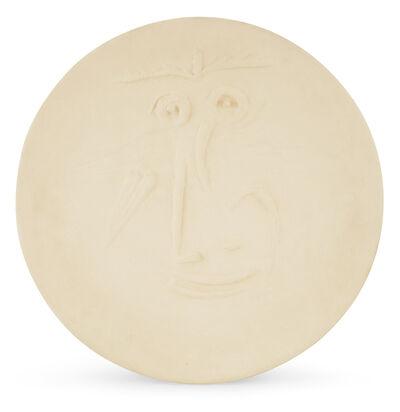 Pablo Picasso, 'Pablo Picasso Madoura Ceramic Plate 'Visage' Ramié 445', 1960