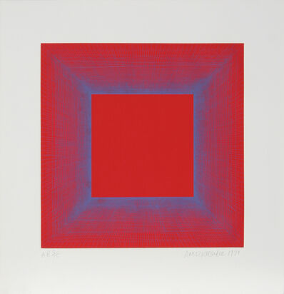Richard Anuszkiewicz, 'Summer Suite (Red with Blue)', 1979