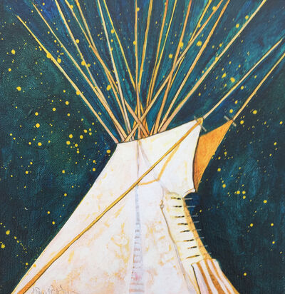 Kevin Red Star, 'Crow Indian Tipi'