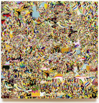 Kyungah Ham, 'Needling Whisper, Needle Country / SMS Series in Camouflage / Greedy is good K01-01-01', 2020