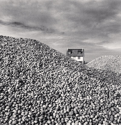 Michael Kenna, 'PEBBLES AND BEACH HOUSE, CAYEUX-SUR-MER, PICARDIE, FRANCE, 2009', 2009