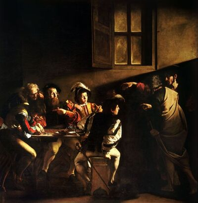 Michelangelo Merisi da Caravaggio, 'The Calling of St Matthew', 1599-1600