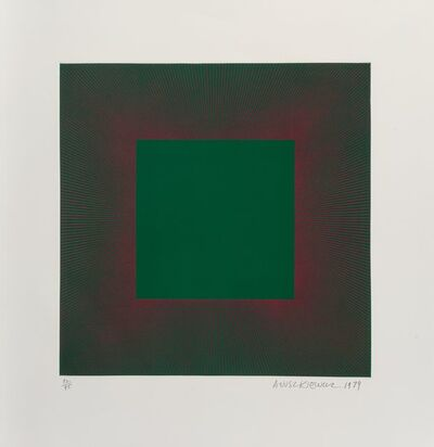 Richard Anuszkiewicz, 'Green with Red, from the Autumn Suite', 1979