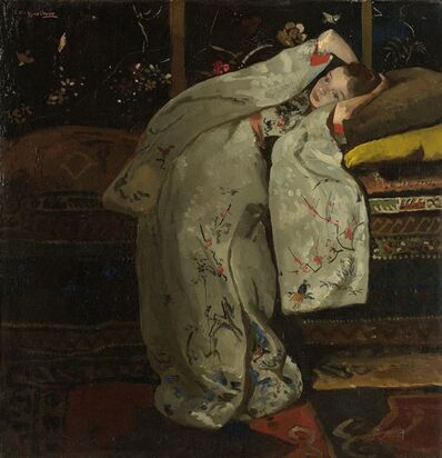 George Hendrik Breitner, 'Girl in a White Kimono', 1894