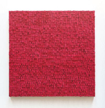 Reiner Seliger, 'Kreidbild rot, mittel', 21st century