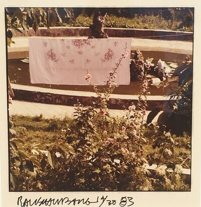 Robert Rauschenberg, 'Study for Chinese Summerhall (Pink Flower Sheet)', 1983