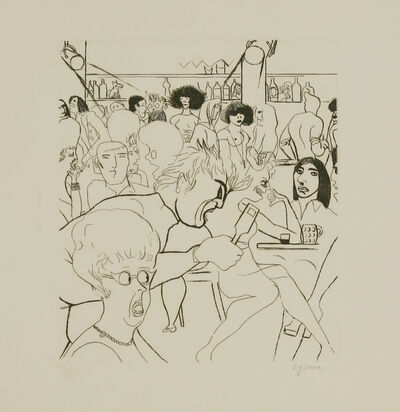 Edward Burra, 'Wednesday Night', 1972