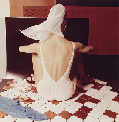 Horst P. Horst, 'White Lingerie on French Ceramic Tiles.', late 1980s