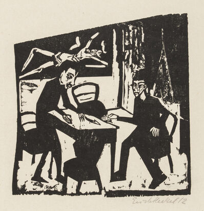 Erich Heckel, 'Adversaries', 1912